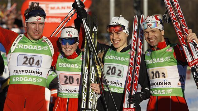 Svendsen, Berger, Solemdal et Björndalen