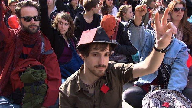 Manifestation d'étudiants