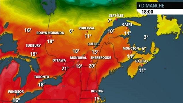 Des températures exceptionnellement douces sont prévues dimanche.