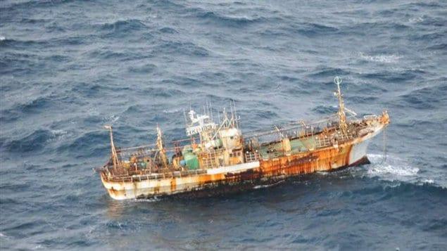 Un bateau de pêche emporté par le tsunami au Japon en mars 2011 a été repéré au large de la Colombie-Britannique.