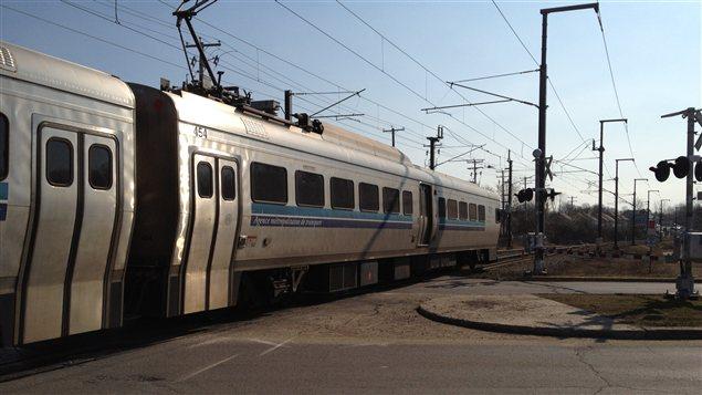Un train de l'AMT