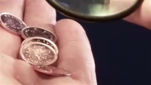 Des pièces d'un cent
