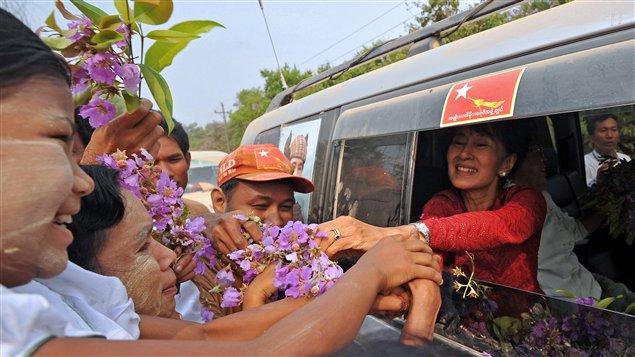L'opposante birmane Aung San Suu Kyi.
