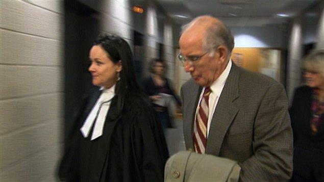 Roger Ackman au palais de justice