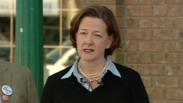 La chef progressiste-conservatrice, Alison Redford.