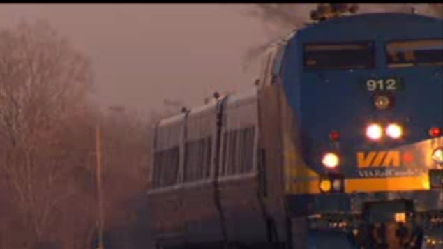 Un train de Via Rail