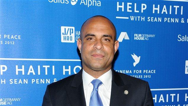 Le ministre haïtien des Affaires étrangères, Laurent Lamothe, lors d'un événement à Beverly Hills le 14 janvier 2012.