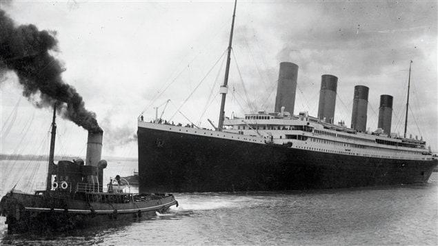 Le Titanic quittant Southampton le 10 avril 1912