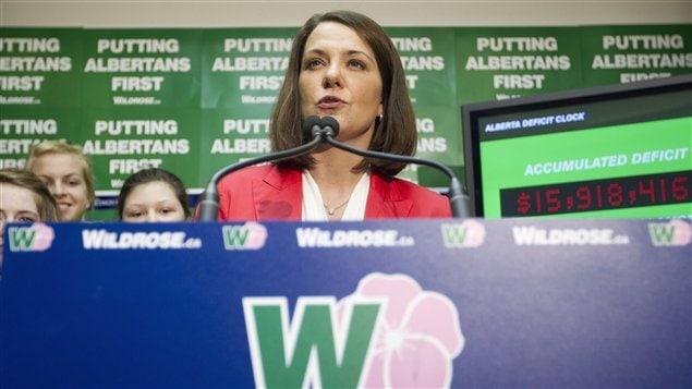 La chef du Wildrose, Danielle Smith.