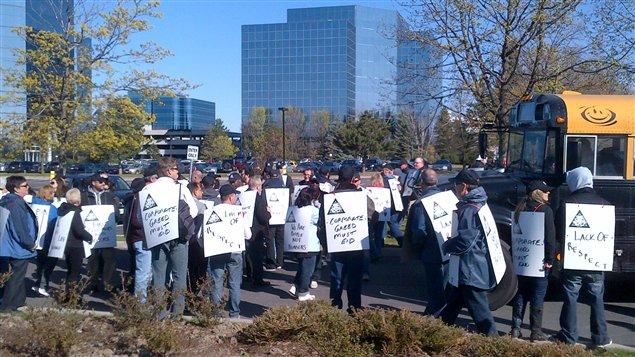 Employés en grève de Direct Energy