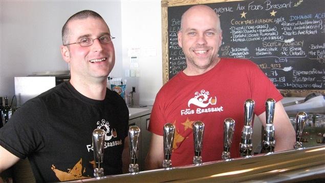 Les propriétaires de la brasserie Frédérick Labrie et Eric Viens