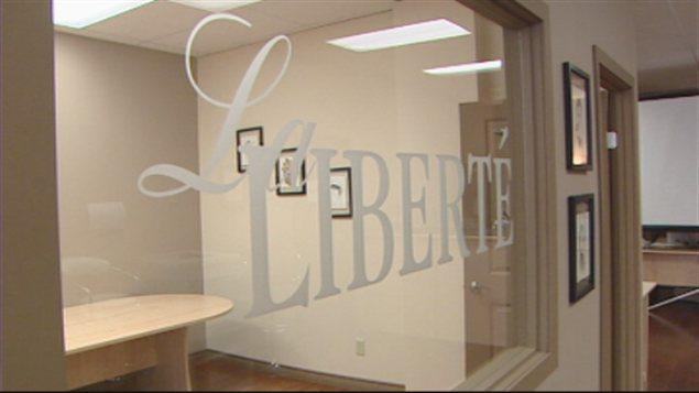 L'intérieur des locaux de l'hebdomadaire franco-manitobain La Liberté