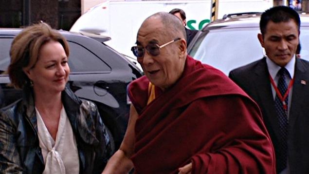 Le dalaï-lama était de passage à l'Université d'Ottawa pour y donner une allocution.