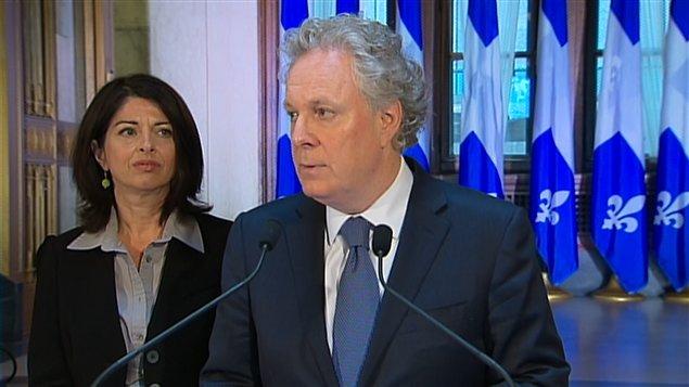Le premier ministre Jean Charest et la ministre de l'Éducation Line Beauchamp
