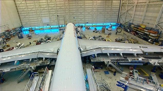 Un avion d'Air Canada en entretien
