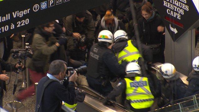 Intervention policière au Palais des congrès