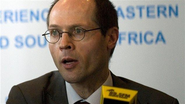 Olivier De Schutter, rapporteur spécial de l'Organisation des Nations unies pour l'alimentation et l'agriculture (FAO)