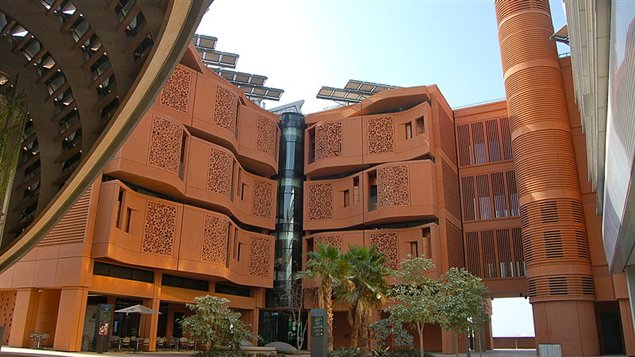 Maisons de Masdar City, aux Émirats Arabes Unis