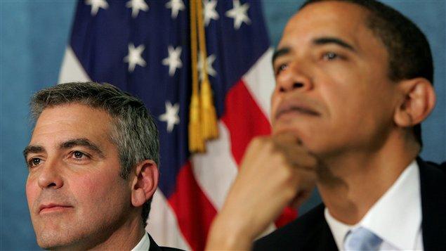 George Clooney et Barack Obama (archives)