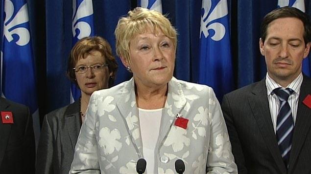 La chef du Parti québécois, Pauline Marois.