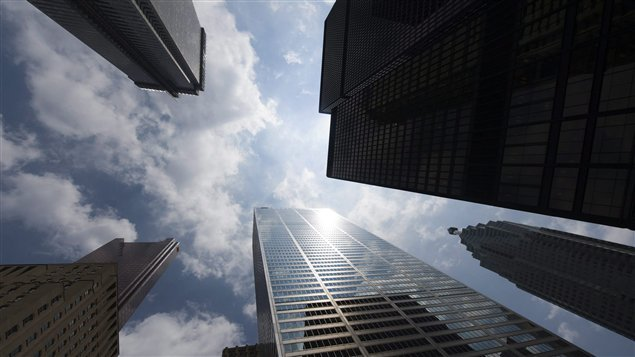 Gratte-ciel de banques sur Bay Street, à Toronto