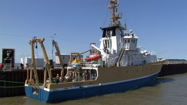Le navire de recherche océanographique, le Coriolis II
