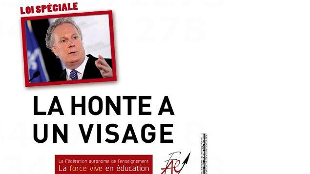 La publicité de la Fédération autonome de l'enseignement dans La Presse du samedi