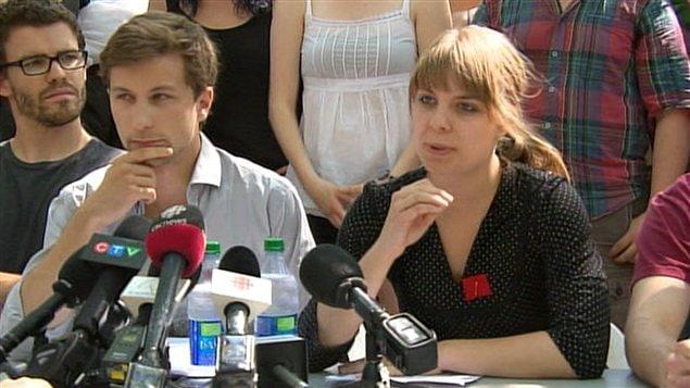 Gabriel Nadeau-Dubois et Jeanne Reynolds
