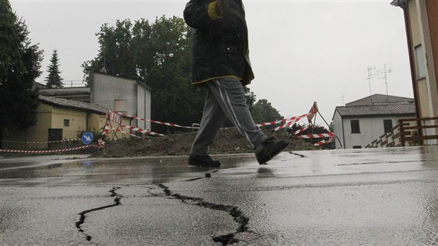 Un village de la la région d'Émilie-Romagne, en Italie, touché par le séisme du 20 mai 2012.