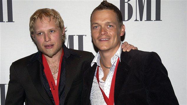 Matt Roberts et Brad Arnold du groupe 3 Doors Down
