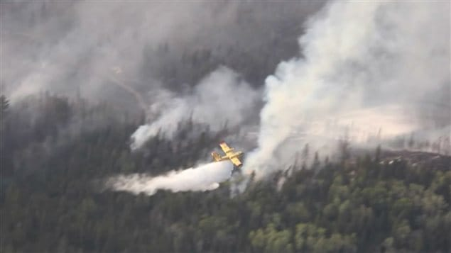 Incendie de forêt en Ontario