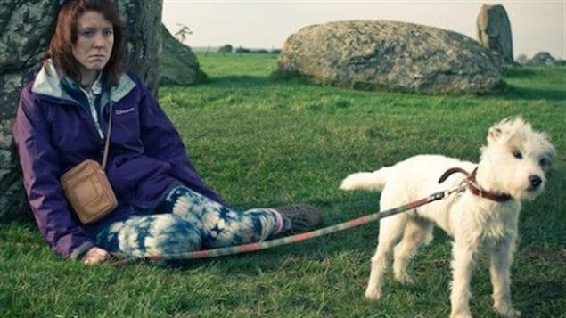 Une scène de <i>Sightseers</i>, avec l'un des chiens récipiendaire de la « Palm Dog »