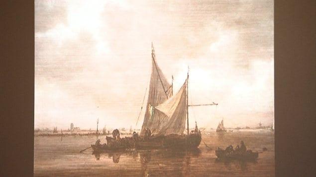 Un des tableaux offert par le couple Hornstein