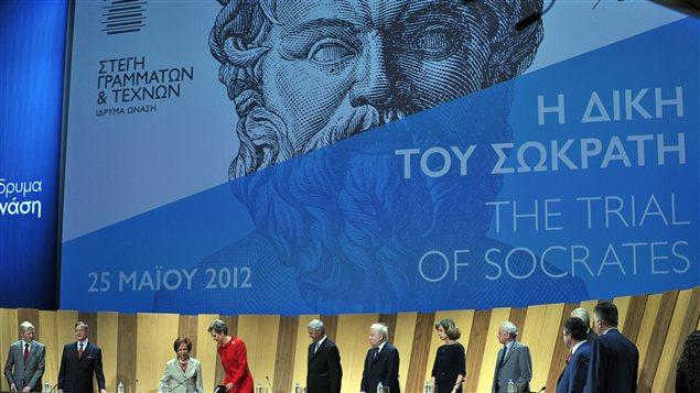 Image montrant le début du procès à Athènes