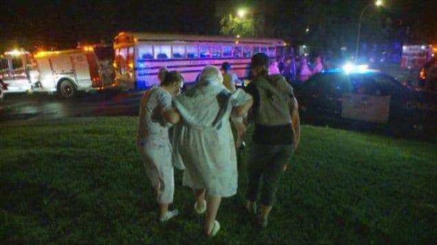Près de 90 personnes âgées ont été évacuées de la résidence.
