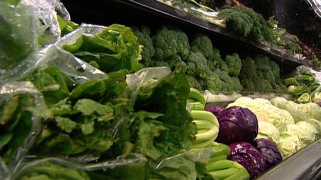 Étalage de légumes épicerie