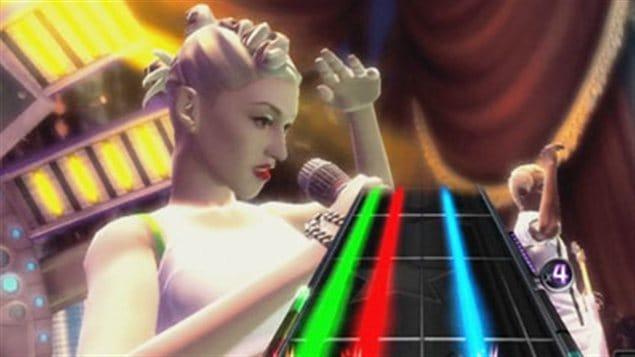 L'avatar de la chanteuse Gwen Stefani, de No Doubt, dans le jeu Band hero