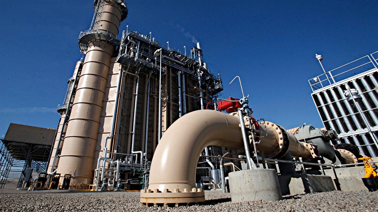 Les tuyaux du système de refroidissement d'une compagnie de gaz naturel.