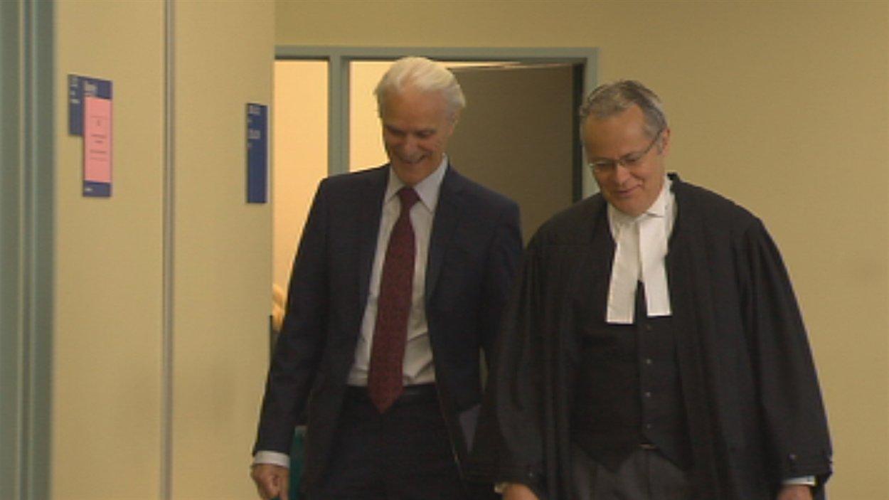 Jacques Delisle et son avocat Me Jacques Larochelle.