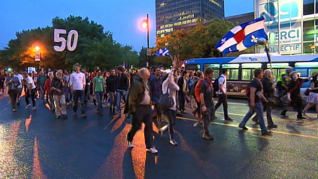 50e manifestation nocturne à Montréal