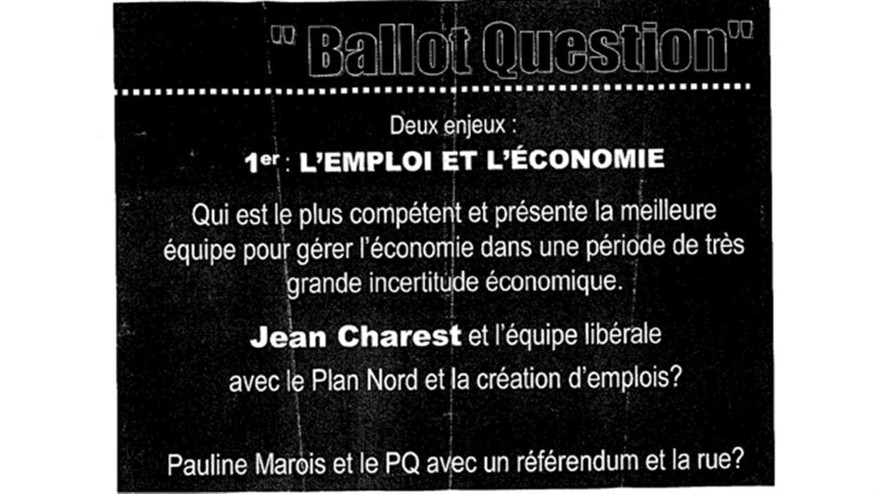La page brandie par le député Stéphane Bédard