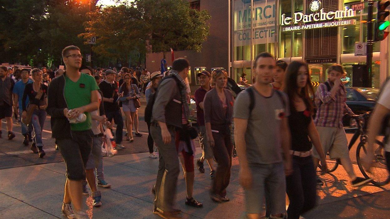 52e manifestation nocturne à Montréal