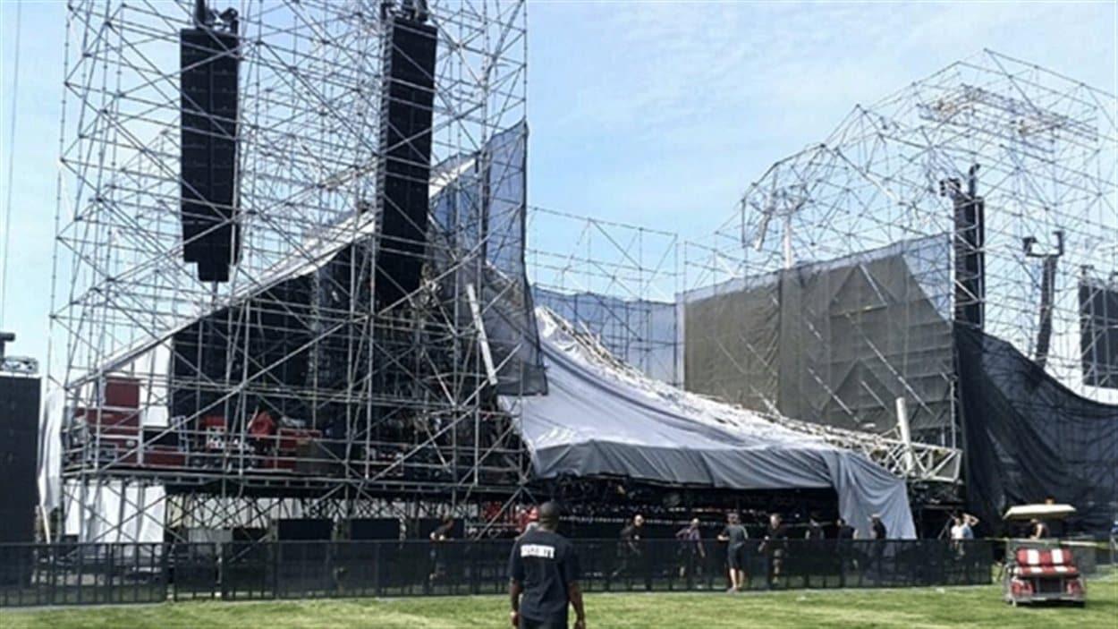 Une scène s'est effondrée au parc Downsview, à Toronto, avant le spectacle du groupe Radiohead.