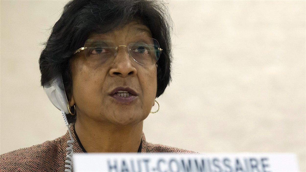 Le haut-commissaire aux droits de l'homme de l'ONU, Navi Pillay, à l'ouverture de la 20e session du Conseil des droits de l'homme, à Genève.