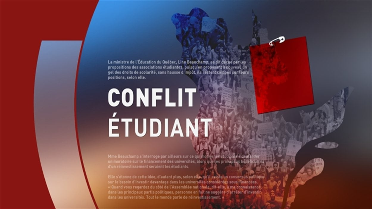 Le conflit étudiant