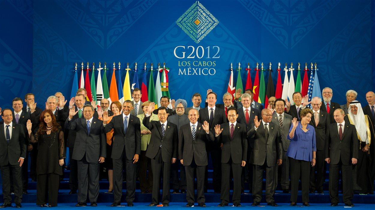 Photo de famille du G20 à Los Cabos, au Mexique.