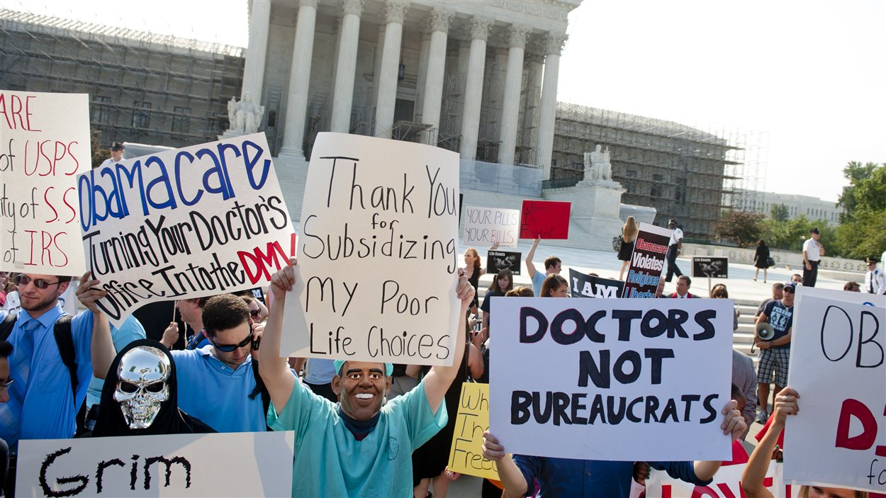Opposants à la réforme de la santé à Washington