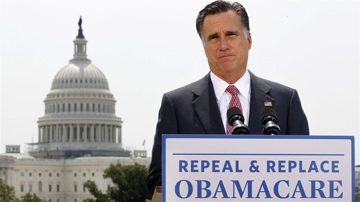 Mitt Romney réagissant à la décision de la Cour suprême.