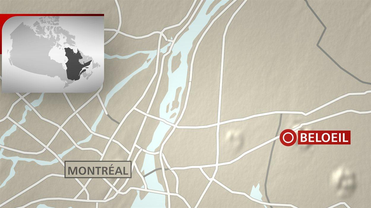 Accident d'avion à Beloeil