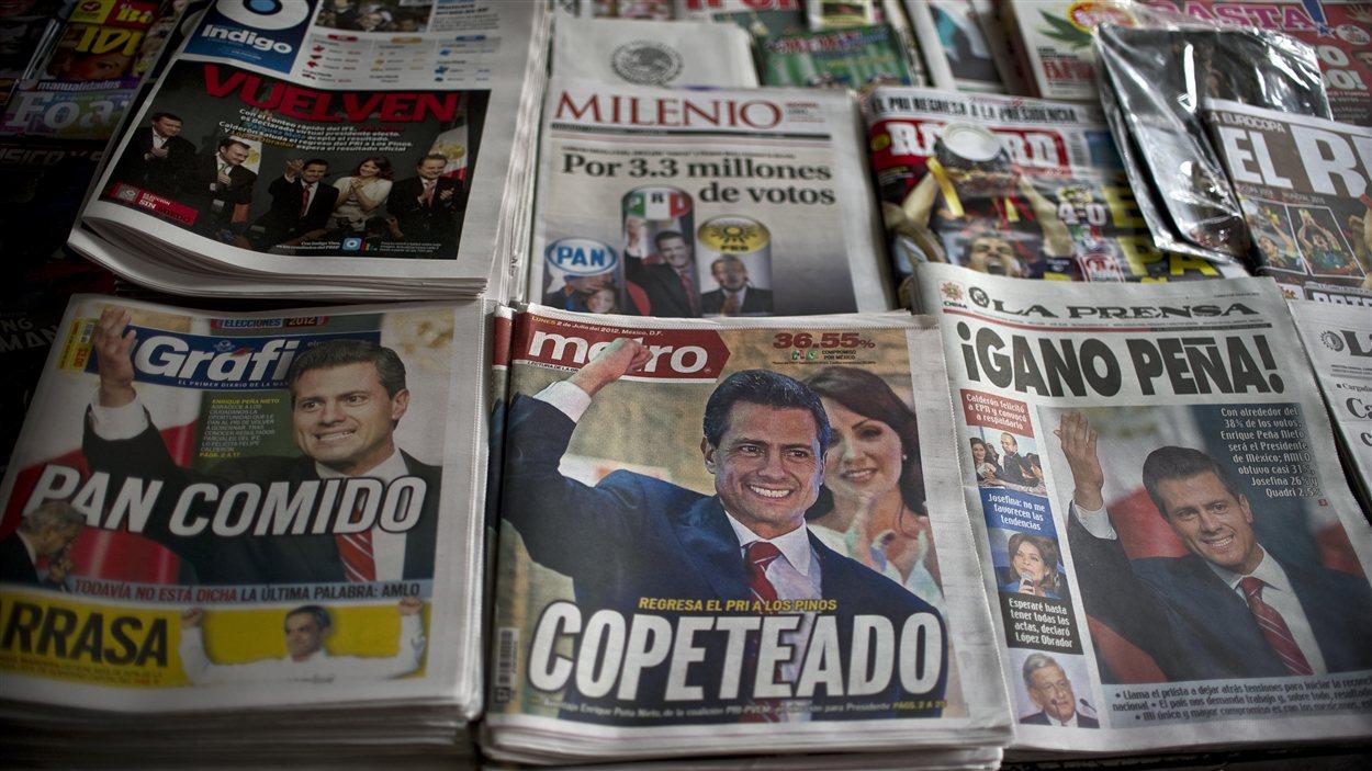 Les journaux mexicains relatent la victoire d'Enrique Peña Nieto